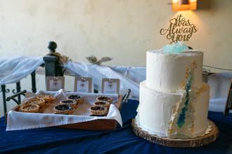 Crystal Geode Cake & Mini Fruit Tarts