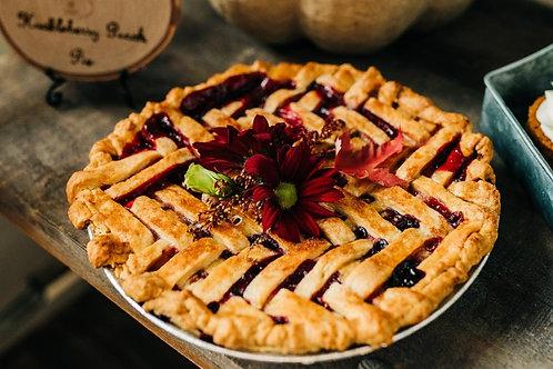 Huckleberry Peach Pie