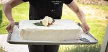 Sheet Cakes Are Available!  We can feed everyone the same cake while preserving your beatiful cake top!