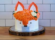 Quarantine Fox Birthday Cake