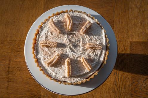 Vegan Raw Churro Cheesecake with Forbidden Rice Cream, Macadamia Nut Crust