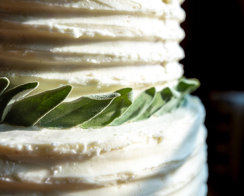 Classic White Cake with Huckleberry Filling and Vanilla Bean Buttercream