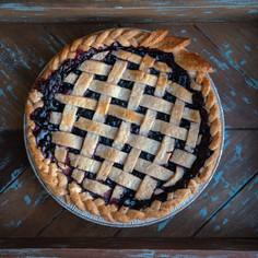 Huckleberry Pie with Lattice Top