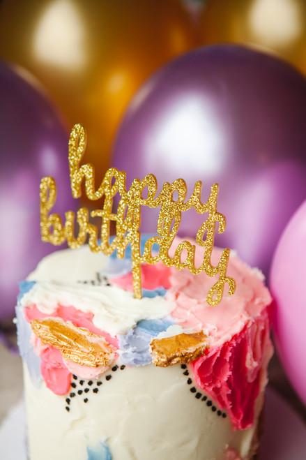 Palette Knife Birthday Cake