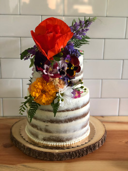 Carrot Cake with Salted Caramel Filling and Spiced Cream Cheese Buttercream