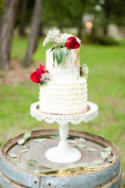 White Cake with Hazelnut Ganache Filling & Vanilla Bean Buttercream