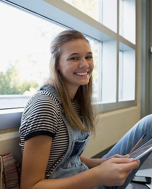 Student auf einem Bruch
