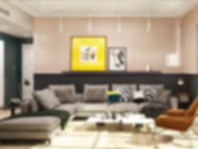 Montreal Interior Designer-Living room