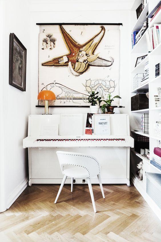 Interior design ideas-how to dress up a nook with pianos