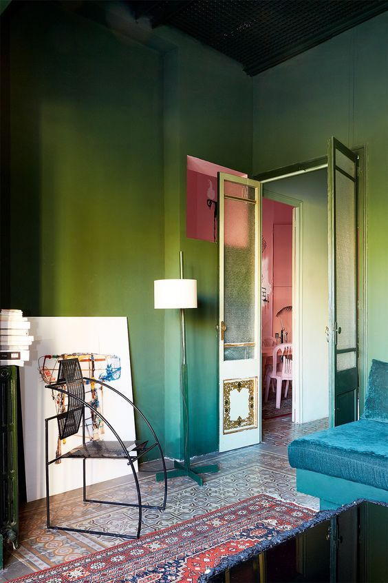 interior decorating ideas_this living room is painted in a soothing light green