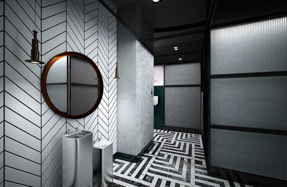 Public washroom interior design