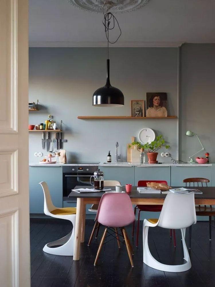 Multifunctional dining-kithcen area interior design