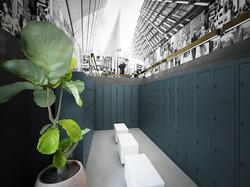 Public locker room interior design