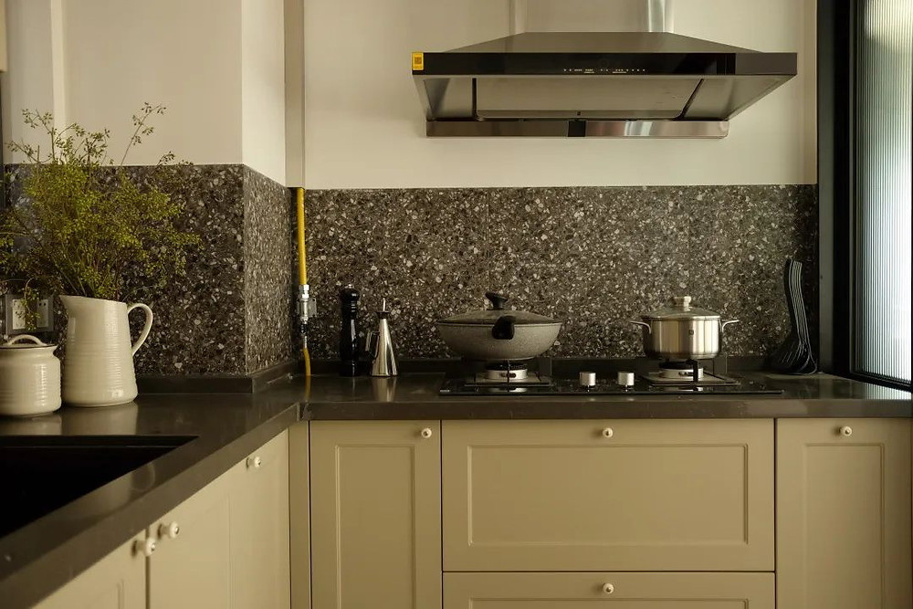Terrazzo kitchen backsplash design