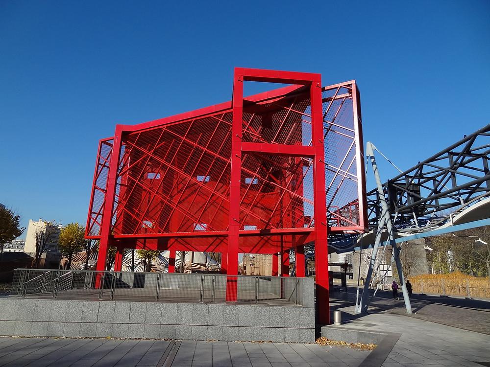 Parc de la Villette-red folly as user-defined space-deconstructive architecture