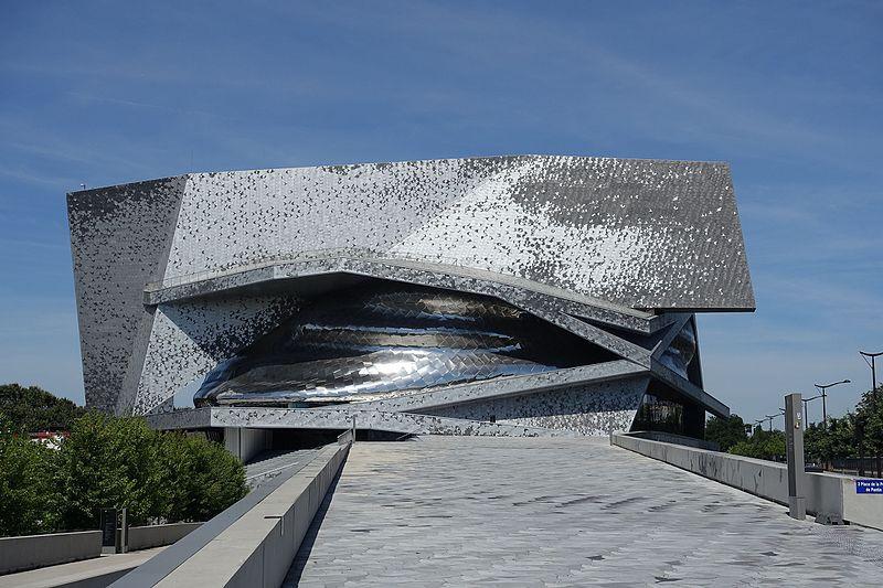 Philharmonie de Paris, a new symphony hall designed by arhitect Jean Nouvel