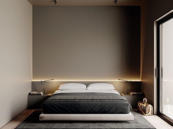 Interior design-bedroom cove lighting