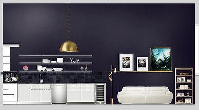 Kitchen virtual interior design