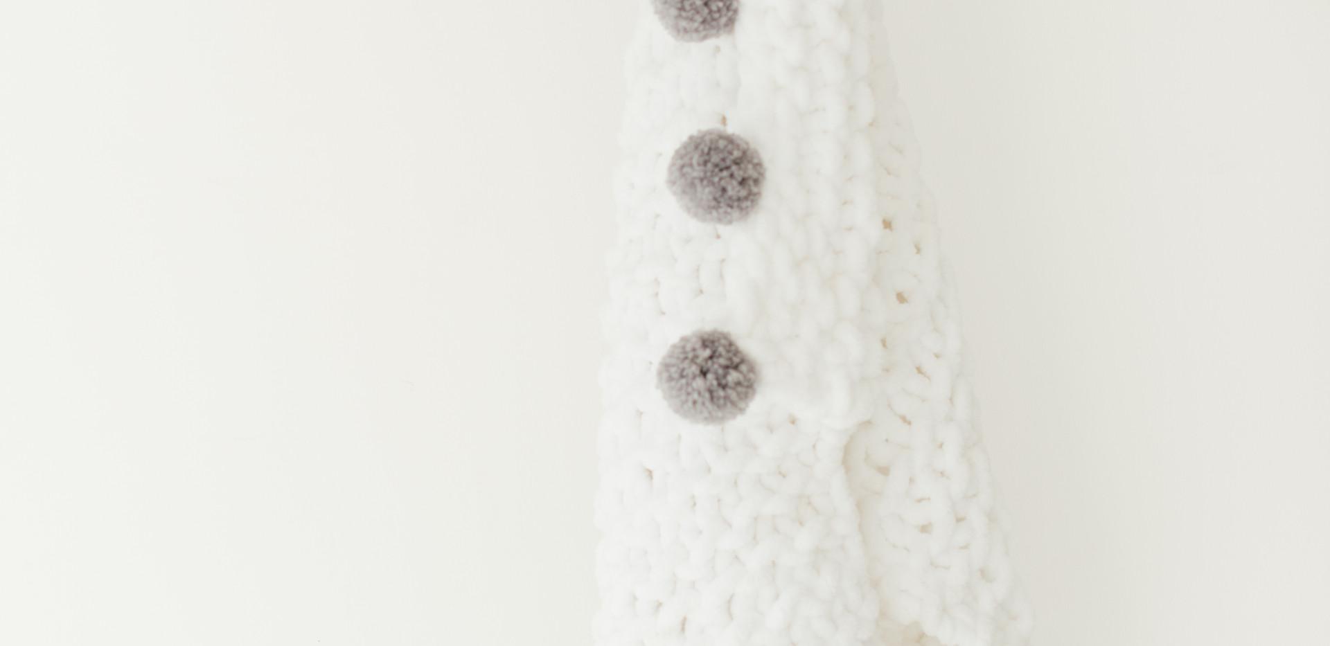 Chunky White Knit