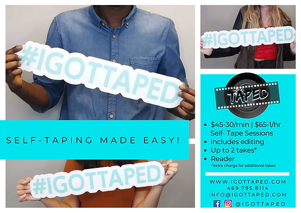 $1 per min Self-Tapes Monologues Slate S