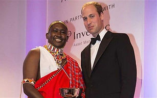 Tom Lalampaa and Prince William