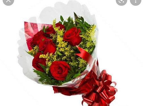 Buquê de 06 Rosas Nacionais