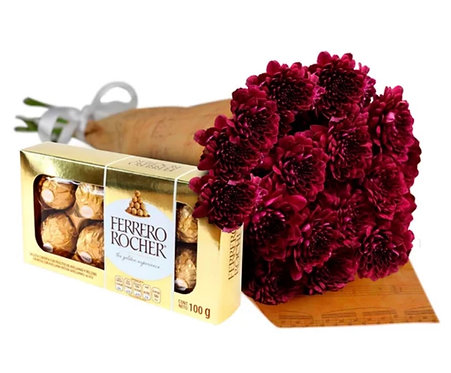 Cone com Flores Pinóquio +Ferrero Rocher