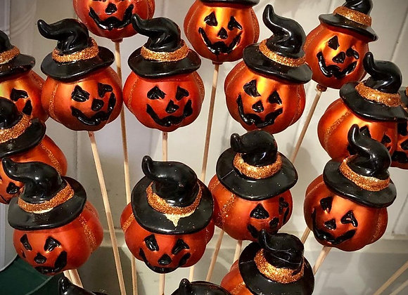Pumpkins on a stick