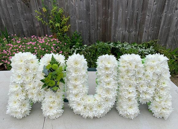 Mum Floral Letter Tribute