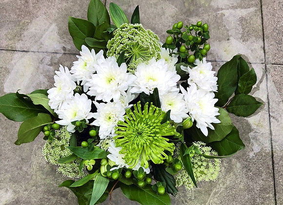 The Emerald Isle hand tied bouquet