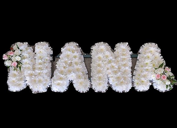 Nana Floral Letter Tribute