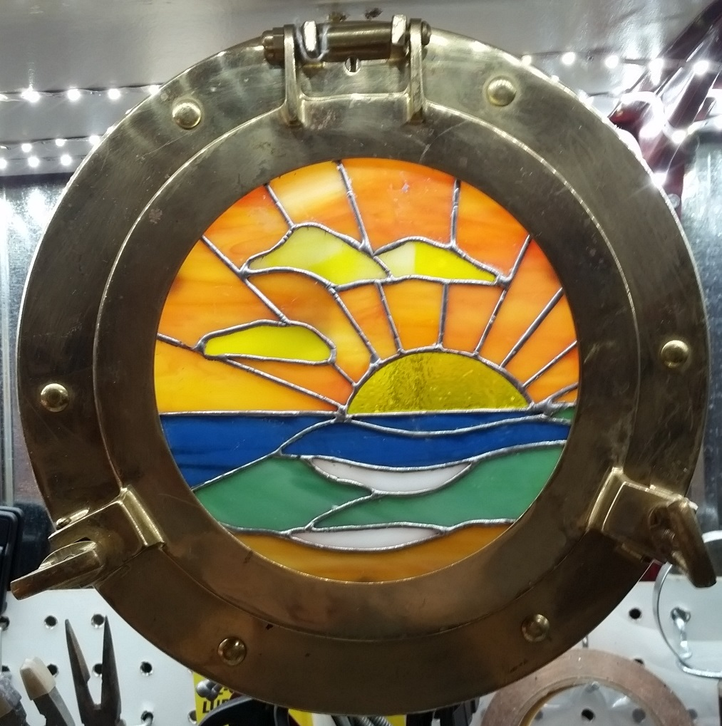 Porthole Sunset