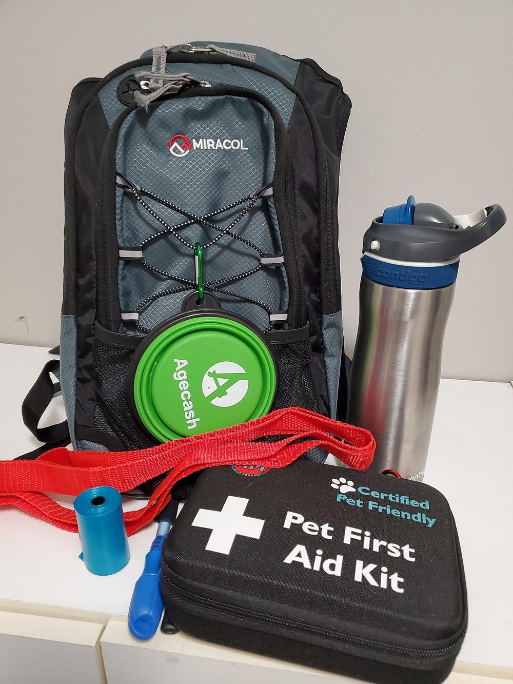 Dog walker backpack essentials