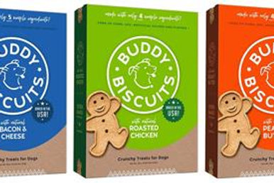 Buddy Biscuits Healthy Whole Grain Oven Baked Treats 8 oz and 16 oz