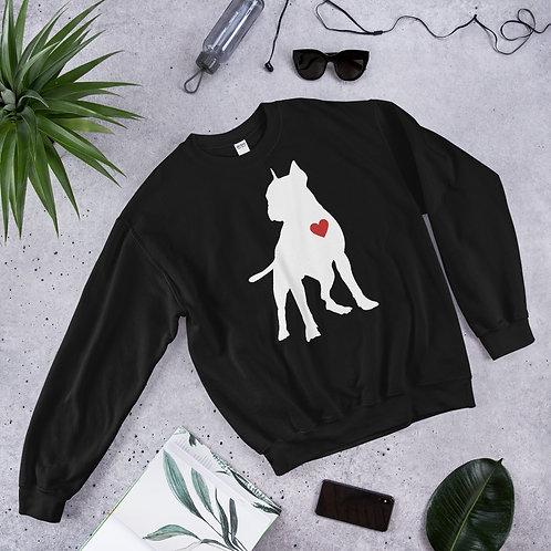 Unisex White Pit Love Sweatshirt