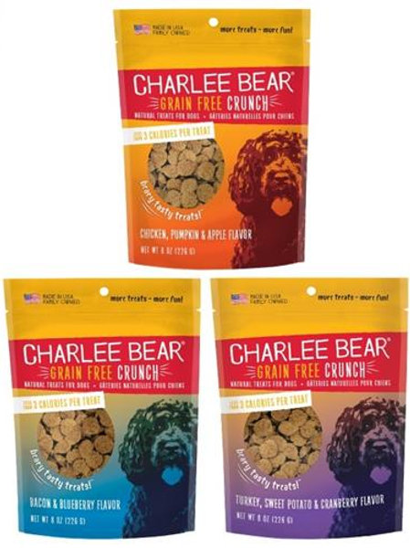 Charlee Bear® Grain Free Bear Crunch Treats 8 Oz. Pouch