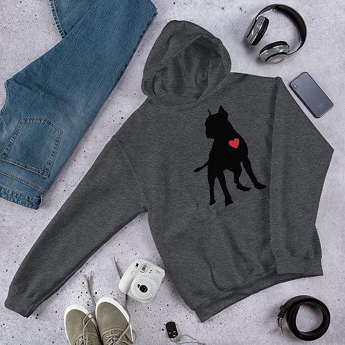 Unisex Black Pit Love Hoodie