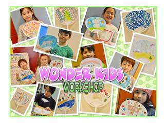 Wonder★Kids企画〜うちわ&扇子の絵付け〜