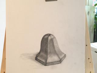 裏側を描く。Draw backside.