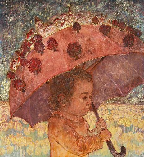 Melancholic Rain, schilderij_van_het_jaar, Japanese painting