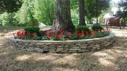 Stone Flowerbed Edging .