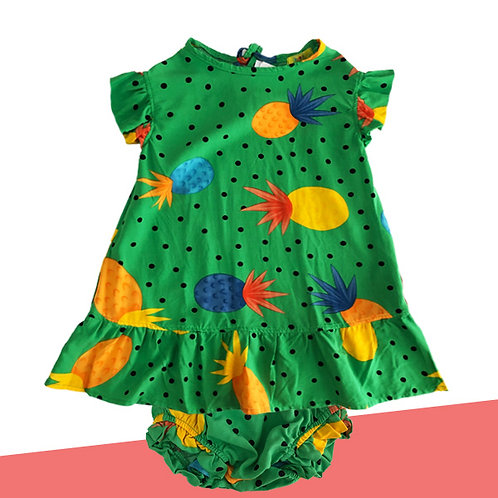 Vestidinho Abacaxi bebê