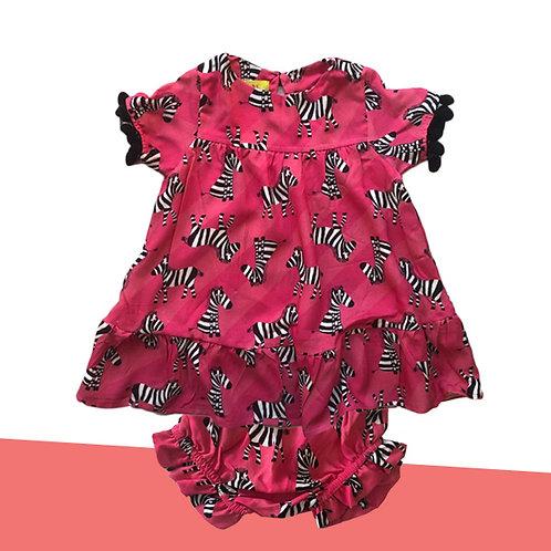 Vestidinho Zebra bebê