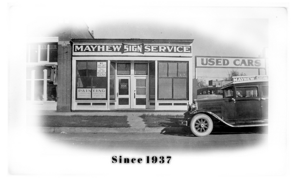 MAYHEW SIGN SERVICE BLDG. FRONT & ESSEX