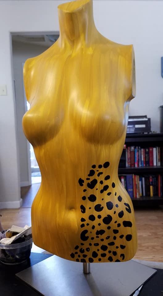 ochre w leopard