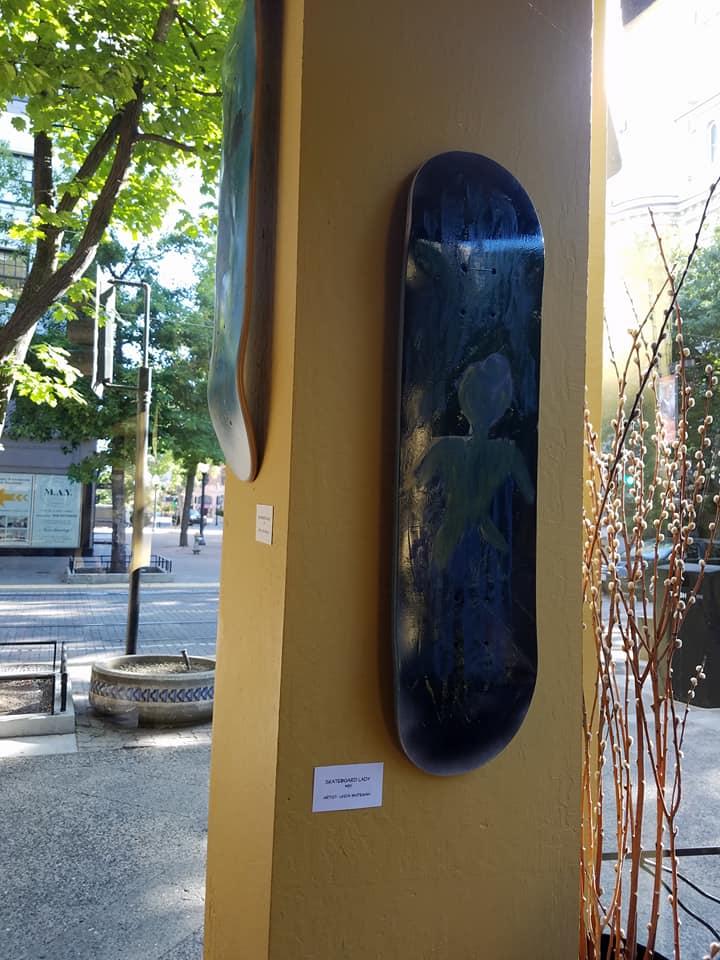 skateboard lady