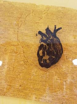heart on window