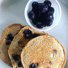 Chocolate Chip Blueberry Pancakes (3 Pancakes)