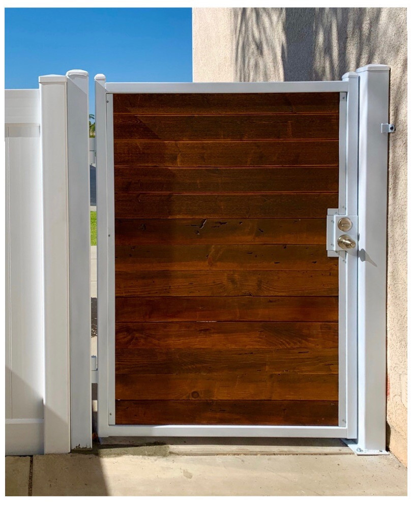 Wood Gate with Metal Frame