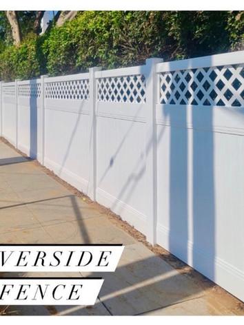 White Vinyl Privacy Fence with Lattice